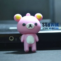 HOT Cute Bear (pink) shape design 2G/4G/ 8GB USB Flash Drive U disk (100%real capacity)