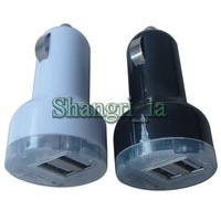 Dual USB car charger for ipad 2.1A Wholesales DHL free shipping