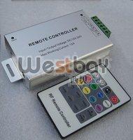 RF led controller, popular 20 keys RF controller, silver aluminum shell, DC12V, DC24 available