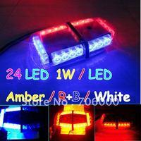 2011 New 240 LED Mini Light Bar Amber / R+B / White / Red / Blue 7 Modes Emergency,Flash Strobe 20W