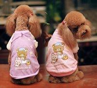 10pcs/lots 2011 new style,PIPI brand new summer dog dress ,dog clothes,Goodnight Bear lovers pet coat