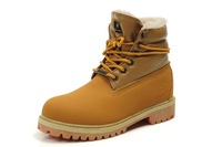 Top Fashion 2013 New Men's winter leather Ankle boots inside plush High Keep warm work footwear size:35-44 Gold