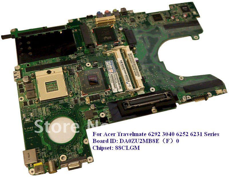 Original Motherboard for Acer Travelmate 6292 3040 6252 6231 laptop DA0ZU2MB8E(F)0 88CLGM chipset(China (Mainland))