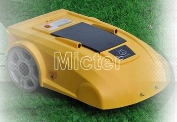 auto lawn mower/mower robot/robot, auto work/recharge, rain sensor, 3 hrs working, 85W, 6M remote control, Cutting height: 3-6cm
