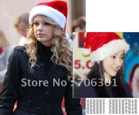 Free Shipping wholesales 300pcs christmas item,Christmas cap /Popular fashion Santa hats/Christmas party hat/xmas hat