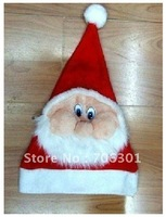 Free Shipping 100pcs christmas item,Christmas cap /Popular fashion Santa hats/Christmas party hat/xmas hat hot!!!