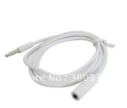 3.5mm Earphone Extension Cable for iPhone for mp3 mp4 ,1m free shipping by air mail(China (Mainland))