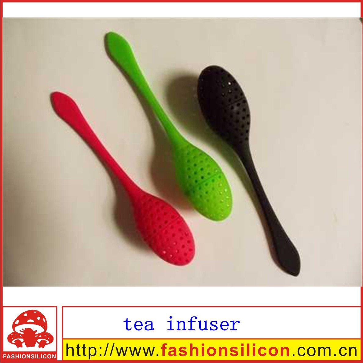 Чайное ситечко cute style silicon tea strainer with pad