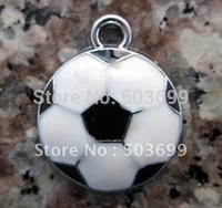 Wholesale 100Pcs Enamel Football Charms 22*18mm Free Shipping