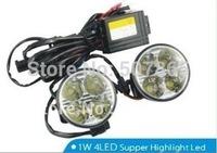 Round 8W E4-MARK RL006 DRL Aluminium House LED daytime running light free shipping