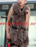 BY-HN-G035 Fashion Waistcoat for Women,   fox fur coat, fox fur vest