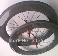 bicycle  wheelset carbon fibre 700c 89mm Tubular 1 pair/lot