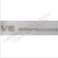 Free Shipping 100pcs V8/V6 KOMPRESSOR Car Logo Car Badges Car Emblems V6 KOMPRESSOR letter sticker Can Mix Kinds  factory supply