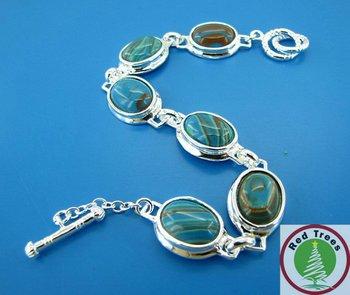 Colorful oval gemstone pendant  bracelet,gemstone bracelet jewelry,Christmas Gift!