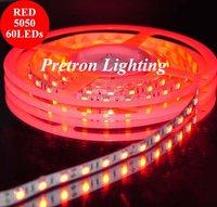5050 SMD Flexible LED strips Red,60LEDs/m,Totally 300pcs,DC 12V 72W(14.4W/M)