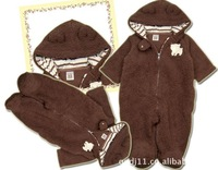Free Shipping! 3 IN 1 baby clothes for baby,romper+hat,100% cotton,3sizes,READY STOCK,