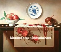 Handmade traditional China art Oriental Still Life Oil Painting,peach,harmony,freeshipping