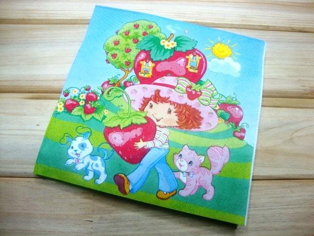 NEW 20 Paper Napkin Serviettes Party favor-Girl Cat Puppy-33x33CM(China (Mainland))
