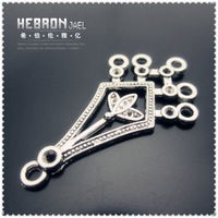 Free shipping(100pieces)Tibetan Silver Jewelry Earring Pendant(3314#)wholesale and retail