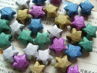 Glitter Sparkling Star Origami Paper craft   pure color Ribbon Free Shipping 2000 Strips hot sale mother's day gifts