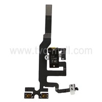 For iPhone 4S Audio Earphone Jack Flex Cable Replacement White Original 10Pieces/Lot Free Shipping