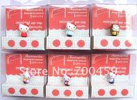 Wholesale  20 PCS  3D HELLO KITTY 3.5 MM Cartoon Mobile Phone Ear Cap Dust Plug  dust plug for lovely ear cap