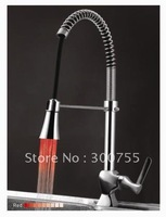 free shiping LED Pull out kitchen faucet AEhome6087