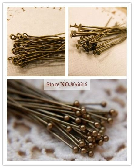 30MM Vintage Bronze/Copper Colour Metal Eye Pins/Head Pins Jewelry Accessories(China (Mainland))