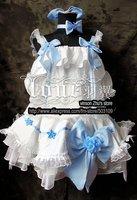 Anime MACROSS F Ranka Cosplay Costume White Fancy lolita Dress Free Shipping