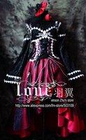 Anime Luxuriant nobility Palace Gothic Lolita Dress Cosplay Costume Free Shipping