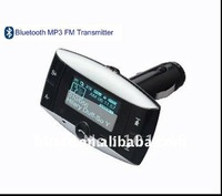 cheap Bluetooth handsfree car kit mp3 player fm transmitter with remote wide 1.5lcd display caller id AT-BL822C 10pcs/lot