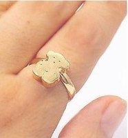 three-dimensional smooth cute bear ring rings