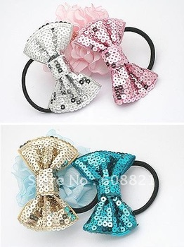 H028 Headwear Headbands Ring for hair rope bow hair accessories for women female children cheap wholesale  B0.9