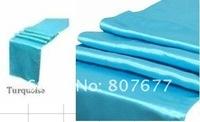 free shipping turquoise  satin chair sash/chair sash for wedding