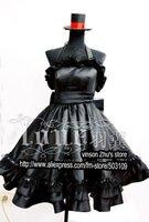 Anime K-ON! Akiyama Mio Cosplay Costume Black Dress Free Shipping