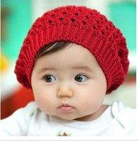baby hat, lovely infant winter hat, infant beret,