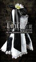 Super deals  VOCALOID Rin Cosplay Custume white Dress Free Shipping