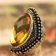 low price !Retro style gems engraved mood metal fashion rings 20pcs/lot E1125