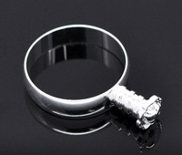 DIY Plating Silver Fashion Charm Adjustable Rings Base Blank Open Rings,Finger Rings Jewelry Finding 100pcs/lot