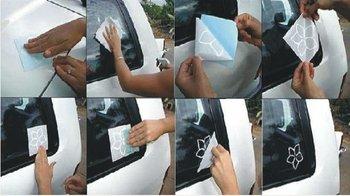Die cut vinyl car sticker FreeShipping via DHL