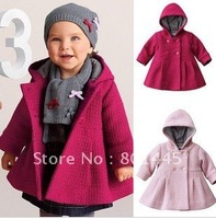 2011 Autumn Winter girl coat girl windbreak girl winter coat cotton coat 6M~24M Free Shipping wholesale retail