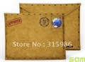 EMS free shipping for Postcard Leather Pouch for iPad 2, 100% new brand!!