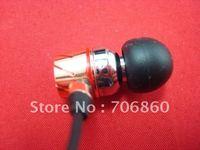 Earphone High Resolution In-Ear Headphones Golden Hard Box Free Shipping 2pairs