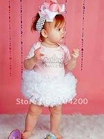 12 pieces/lot-white snow litle girl's cothes/Princess Flower Girl's Tutu Skirts/Infant Dress Pettiskirt