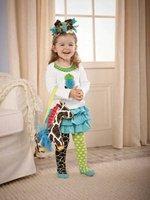 8 sets/lot-Chirstmas XMAS Girl's Clothing Sets/Infant&Toddler Clothing sets/Santa Baby Clothes