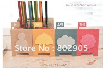 free shipping & wholesale amusing smile season memo pads/cute happy weather min notebook/sticky pads