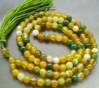 Tibetan Buddhist 108 Jade Beads Prayer Mala Necklace color Fashion Free shipping