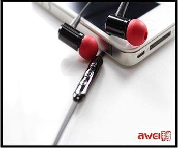 Metal Stereo Earphone headset for iPod Touch IPad shuffle Earphone 3.5mm jack