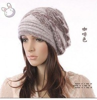 Free shipping,2012 Chrismas gift the new fashion Beanie hat,Winter hat,Colorful knitted hats,women cotton hat 4pcs/lot