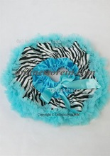 Free shipping Lovely baby wear,baby skirt zebra and aqua blue ruffly recommend Newborn 0 to 12 Months(China (Mainland))